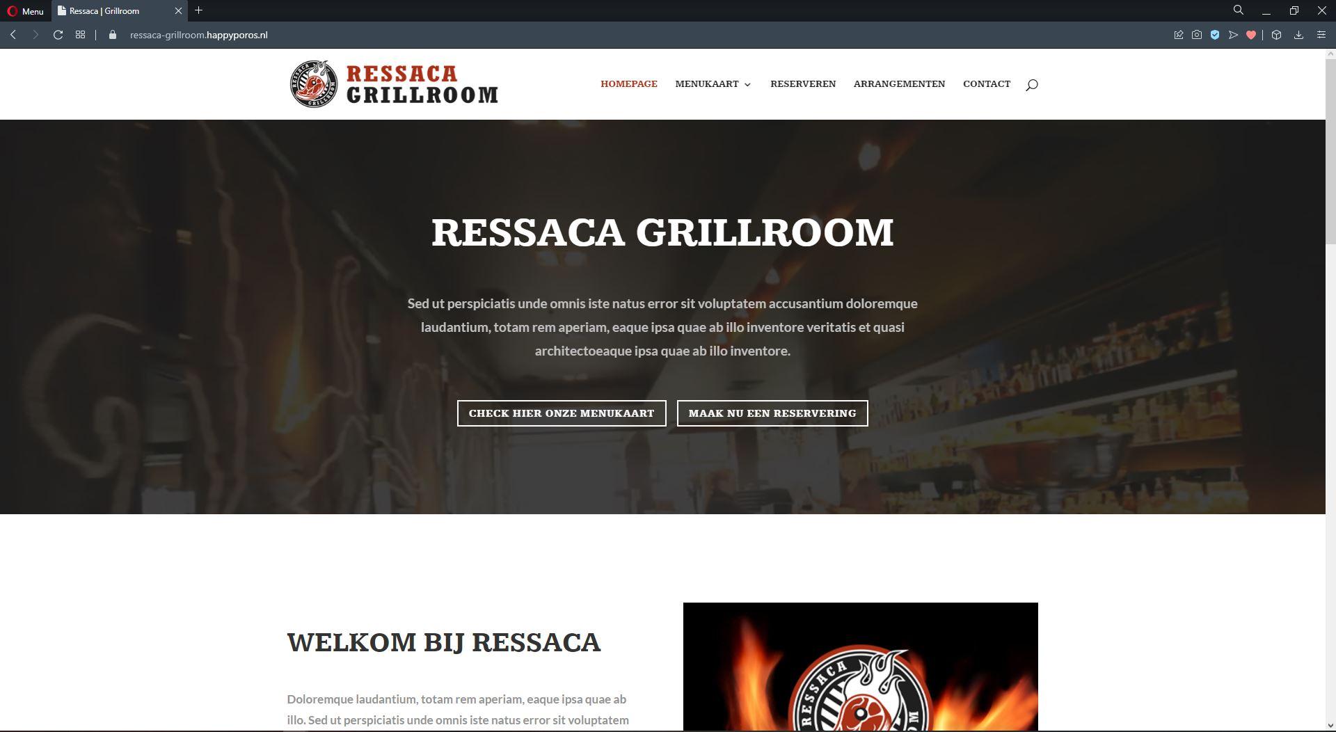 Website Ressaca Grillroom